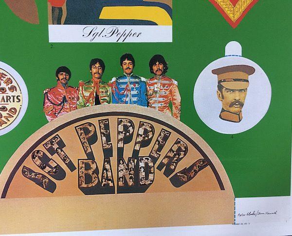 original album artwork proofs for Beatles sgt peppers