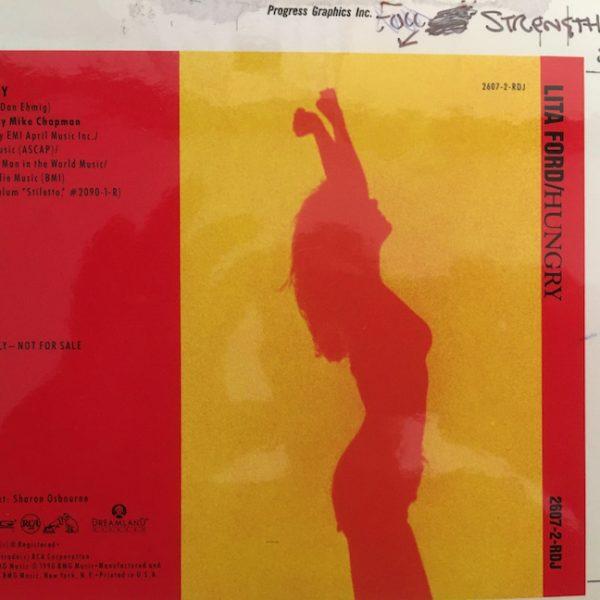 original cover artwork for Lita ford's single Hungry
