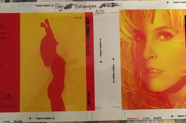 Lita Ford Hungry 1st proof artwork