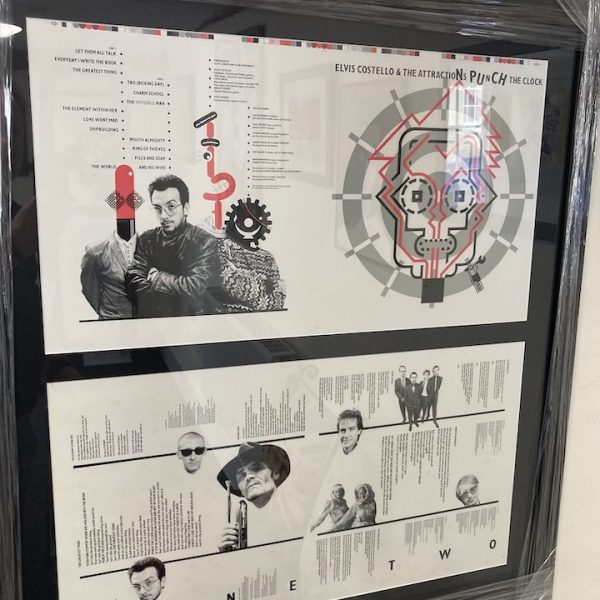 elvis costello punch the clock proof artwork by Barney Bubbles