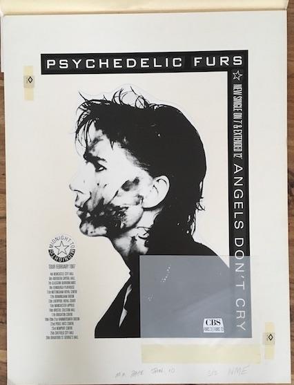 pschedelic furs angels dont cry original artwork5