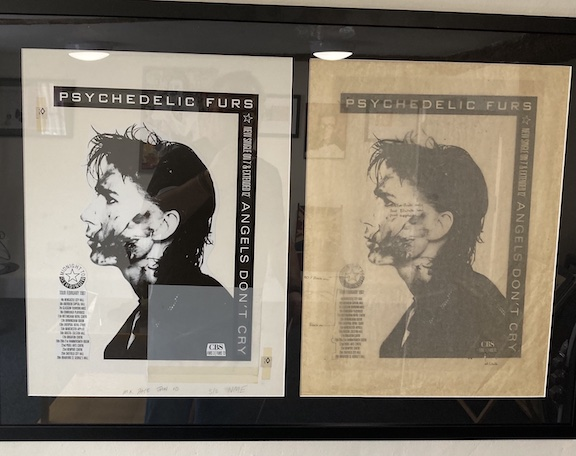 psychedelic furs Angels dont cry original artwork