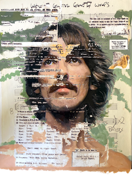 Our Sweet George Harrison By Stormy Picasso