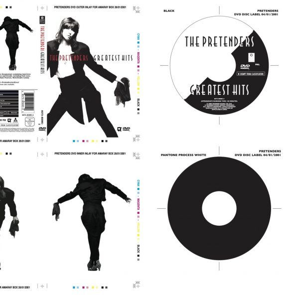 The Pretenders Original Proof artwork for the Greatest Hits album on DVD